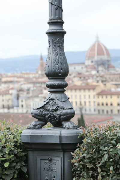 Lamp post in Florence