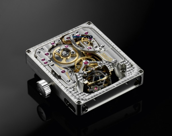 Jaeger-LeCoultre Gyrotourbillon II movement from the back